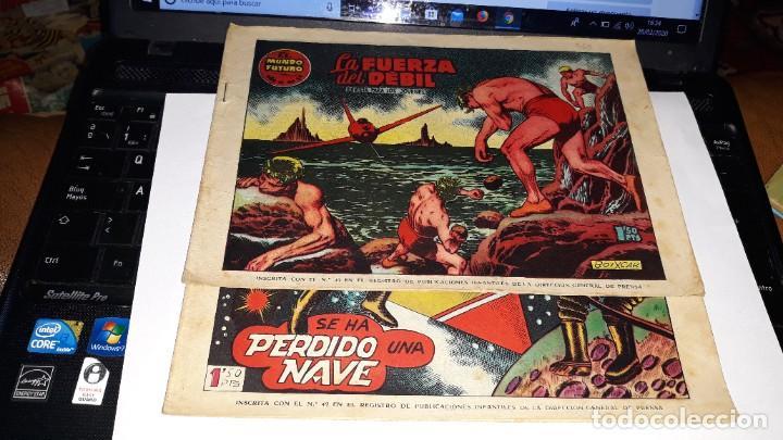 LOTE DE 2 COMICS MUNDO FUTURO, 51 SE HA PERDIDO UNA NAVE- 59 LA FUERZA DEL DEBIL, ORIGINAL TORAY (Tebeos y Comics - Toray - Mundo Futuro)
