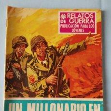 Tebeos: UN MILLONARIO EN EL FRENTE - RELATOS DE GUERRA N. 160 - 1968. Lote 195504703