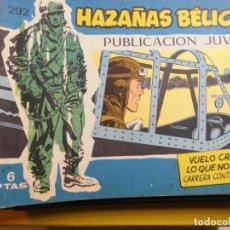Tebeos: HAZAÑAS BELICAS Nº 292 EDITORIAL TORAY. Lote 195525858