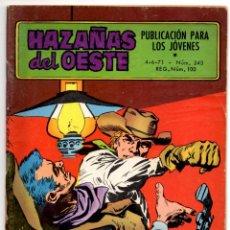 Tebeos: HAZAÑAS DEL OESTE Nº 243 (TORAY 1971). Lote 195959863