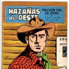 Tebeos: HAZAÑAS DEL OESTE Nº 239 (TORAY 1971). Lote 195960152