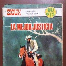 Tebeos: SIOUX - Nº 98 - LA MEJOR JUSTICIA - 1968. Lote 196007517