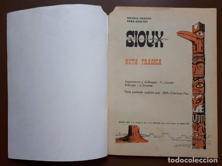 Tebeos: Sioux - Nº 40 - La mejor justicia - 1965 - Foto 2 - 196007713