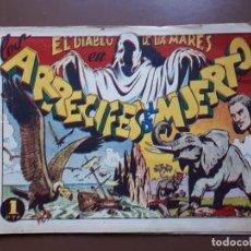 BDs: EL DIABLO DE LOS MARES - Nº15 - ARRECIFES DEL MUERTO - ORIGINAL TORAY. Lote 196095311