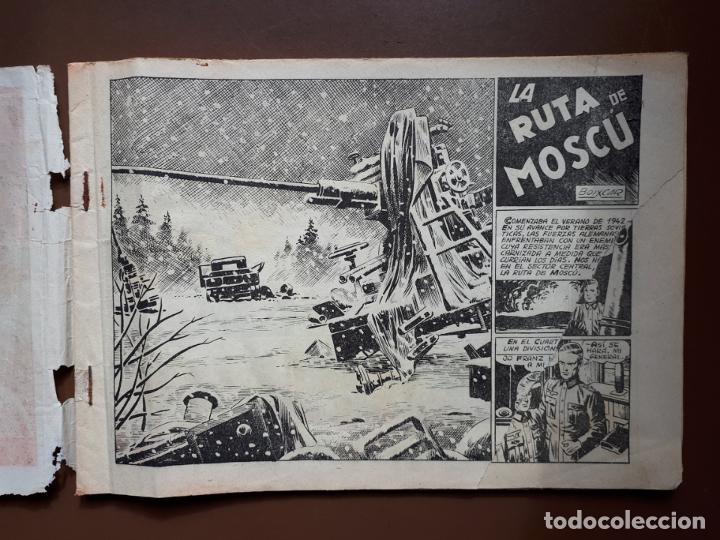 Tebeos: Hazañas Bélicas - Nº84 - La Ruta de Moscú - Toray - 1953 - Foto 3 - 196193497