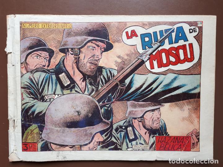 HAZAÑAS BÉLICAS - Nº84 - LA RUTA DE MOSCÚ - TORAY - 1953 (Tebeos y Comics - Toray - Hazañas Bélicas)