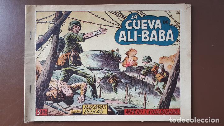 HAZAÑAS BÉLICAS - Nº70 - LA CUEVA DE ALI-BABÁ - TORAY - 1953 (Tebeos y Comics - Toray - Hazañas Bélicas)