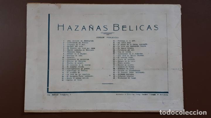 Tebeos: Hazañas Bélicas - Nº43 - huracanes de fuego - Toray - 1951 - Foto 5 - 196197187