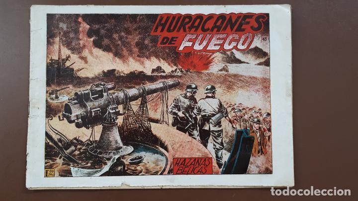 HAZAÑAS BÉLICAS - Nº43 - HURACANES DE FUEGO - TORAY - 1951 (Tebeos y Comics - Toray - Hazañas Bélicas)
