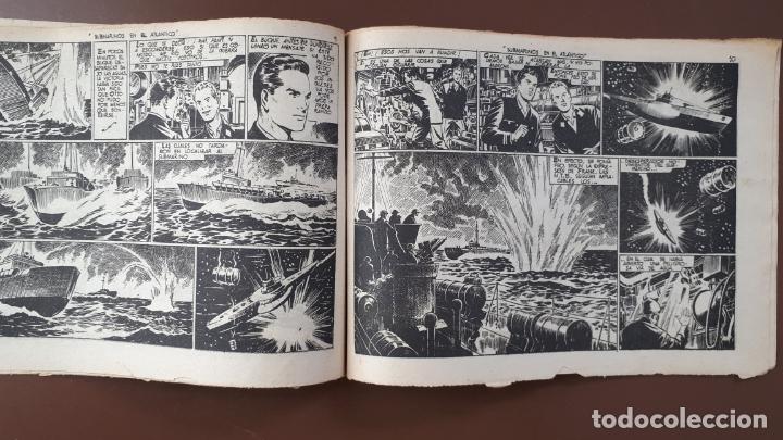 Tebeos: Hazañas Bélicas - Nº30 -Submarinos en el Atlántico - Toray - 1951 - Foto 3 - 196198360