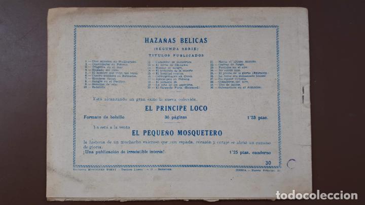 Tebeos: Hazañas Bélicas - Nº30 -Submarinos en el Atlántico - Toray - 1951 - Foto 5 - 196198360