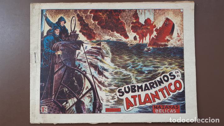 HAZAÑAS BÉLICAS - Nº30 -SUBMARINOS EN EL ATLÁNTICO - TORAY - 1951 (Tebeos y Comics - Toray - Hazañas Bélicas)