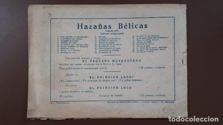 Tebeos: Hazañas Bélicas - Nº27 - Su mayor victoria - Toray - 1951 - Foto 4 - 196198743