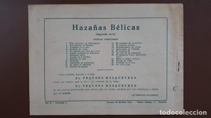 Tebeos: Hazañas Bélicas - Nº24 -No volvió más... - Toray - 1951 - Foto 5 - 196199305