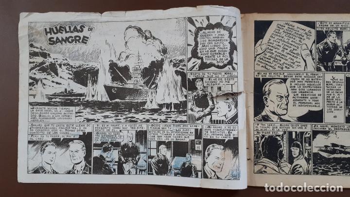 Tebeos: Hazañas Bélicas - Nº13 - Huellas de sangre - Toray - 1950 - Foto 2 - 196200921