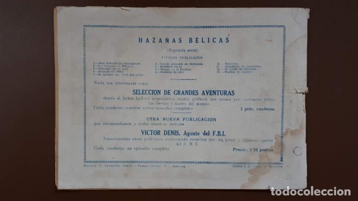 Tebeos: Hazañas Bélicas - Nº13 - Huellas de sangre - Toray - 1950 - Foto 5 - 196200921
