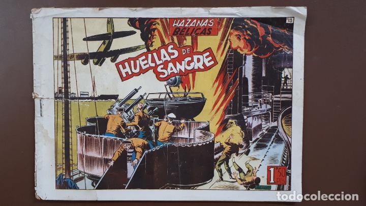 HAZAÑAS BÉLICAS - Nº13 - HUELLAS DE SANGRE - TORAY - 1950 (Tebeos y Comics - Toray - Hazañas Bélicas)