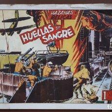 Tebeos: HAZAÑAS BÉLICAS - Nº13 - HUELLAS DE SANGRE - TORAY - 1950. Lote 196200921