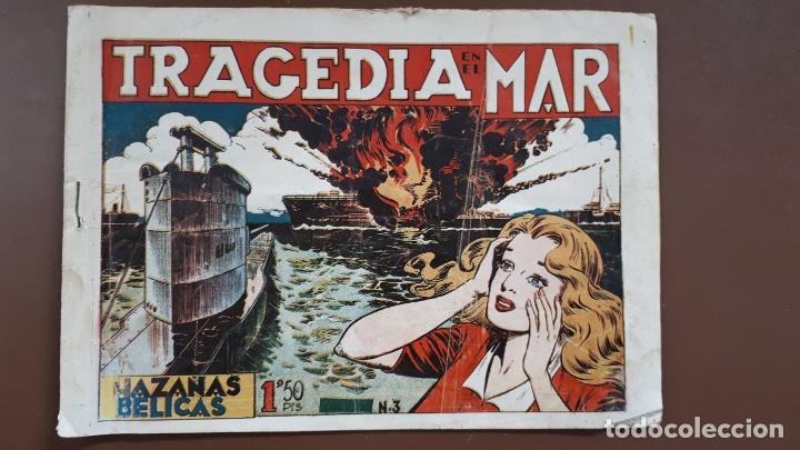 HAZAÑAS BÉLICAS - Nº3 - TRAGEDIA EN EL MAR - TORAY - 1950 (Tebeos y Comics - Toray - Hazañas Bélicas)