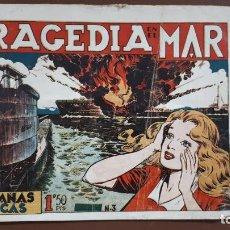 Tebeos: HAZAÑAS BÉLICAS - Nº3 - TRAGEDIA EN EL MAR - TORAY - 1950. Lote 196201497