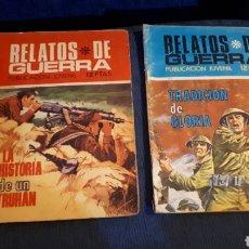 Tebeos: RELATOS DE GUERRA NÚMEROS 224 Y 225 USADOS. Lote 197578153
