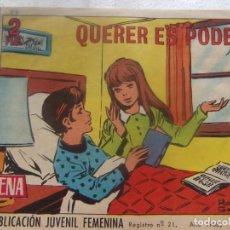 Tebeos: REVISTA JUVENIL FEMENINA AZUCENA NUM 1061- QUERER ES PODER. Lote 197939420