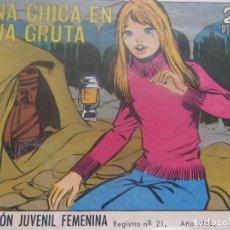 Tebeos: REVISTA JUVENIL FEMENINA AZUCENA NUM 1069- UNA CHICA EN UNA GRUTA. Lote 197943320