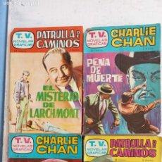 Tebeos: T.V. NOVELAS GRÁFICAS - PATRULLA DE CAMINOS, CHARLIE CHAN - NºS 3,9,10,12 - EDI. TORAY 1962. Lote 198372991