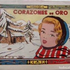 Tebeos: GRACIELA NÚM 28 - CORAZONES DE ORO. Lote 198577592