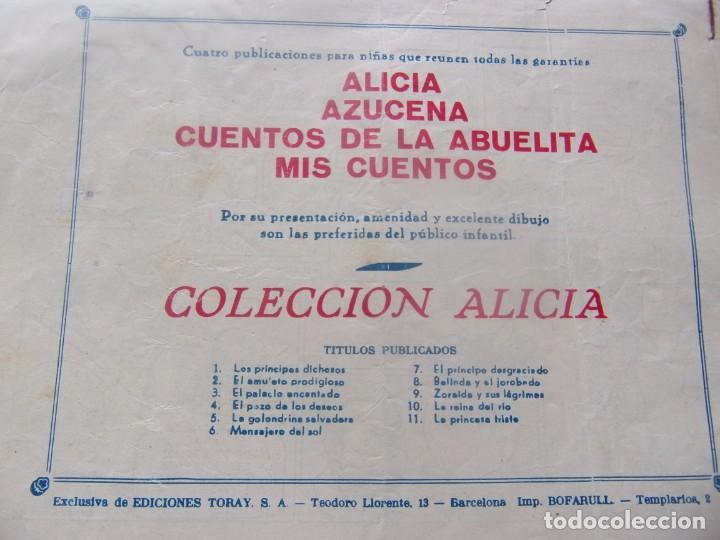 Tebeos: ALICIA Núm. 11 - LA PRINCESA TRISTE - Foto 2 - 198578697