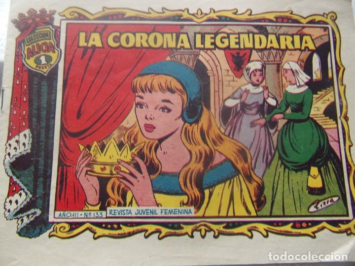 ALICIA NÚM. 133- LA CORONA LEGENDARIA (Tebeos y Comics - Toray - Alicia)