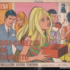 Tebeos: AZUCENA Nº 1055. DOS CABEZAS DE CHORLITO. Lote 198629988