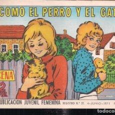 Tebeos: AZUCENA Nº 1211. COMO EL PERRO Y EL GATO. Lote 198911605