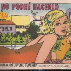 Tebeos: AZUCENA Nº 1214. NO PODRE HACERLO. Lote 198911662