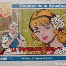 Tebeos: CUENTOS DE LA ABUELITA NUM. 232 - LA PASTORCITA REAL. Lote 198959347