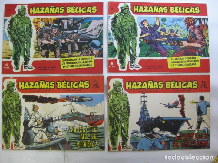 Tebeos: LOTE 16 HAZAÑAS BELICAS - SERIE ROJA - NUMEROS BAJOS - Foto 4 - 198972503
