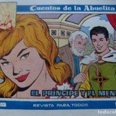 Tebeos: CUENTOS DE LA ABUELITA NUM. 288- EL PRINCIPE Y EL MENDIGO. Lote 199255375