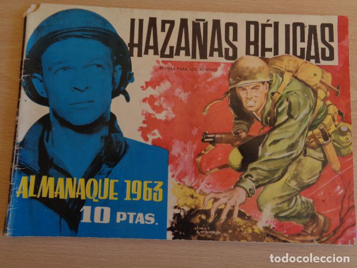 HAZAÑAS BÉLICAS ALMANAQUE 1963. ORIGINAL. EDITA TORAY (Tebeos y Comics - Toray - Hazañas Bélicas)