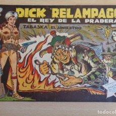 BDs: DICK RELÁMPAGO Nº 60. ORIGINAL. TABASKA EL SINIESTRO. TORAY. Lote 199490338