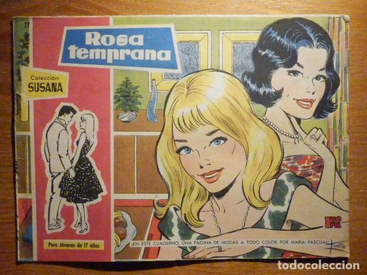 TEBEO - COMIC - COLECCION SUSANA - Nº 77 - ROSA TEMPRANA - EDICIONES TORAY (Tebeos y Comics - Toray - Susana)