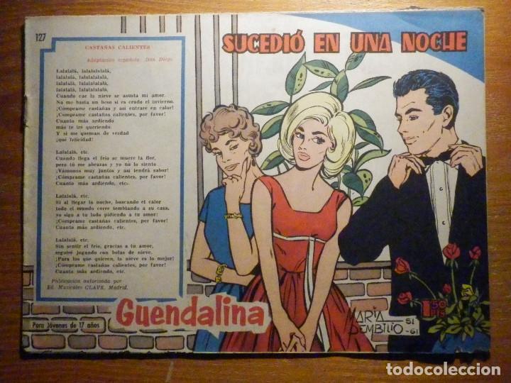 TEBEO - COMIC - COLECCIÓN GUENDALINA - Nº 127 - SUCEDIO EN UNA NOCHE - TORAY (Tebeos y Comics - Toray - Guendalina)