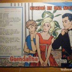 BDs: TEBEO - COMIC - COLECCIÓN GUENDALINA - Nº 127 - SUCEDIO EN UNA NOCHE - TORAY . Lote 202103842