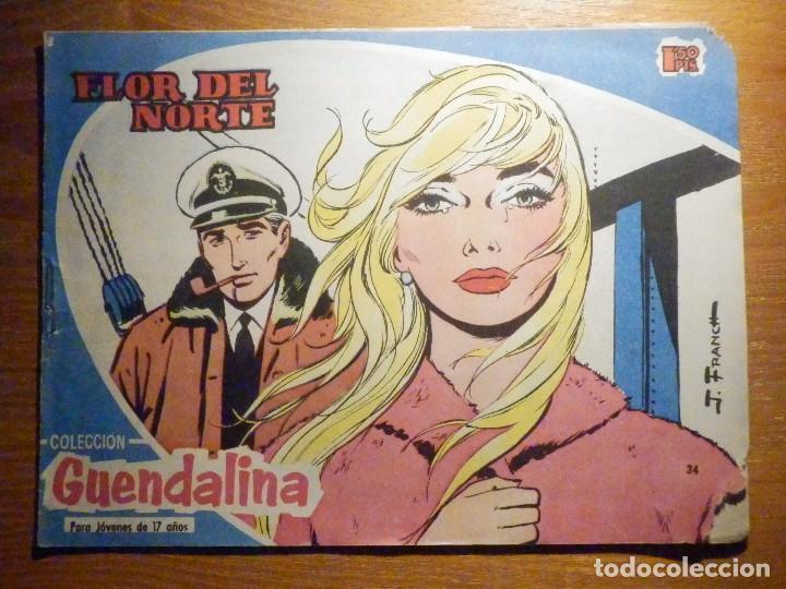 TEBEO - COMIC - COLECCIÓN GUENDALINA - Nº 34 - FLOR DEL NORTE - TORAY (Tebeos y Comics - Toray - Guendalina)