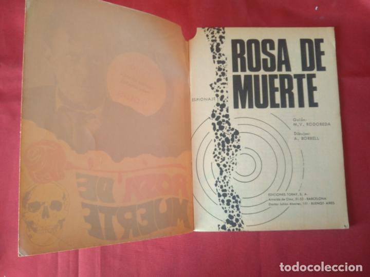 Tebeos: ESPIONAJE Nº 55 - ROSA DE MUERTE - ED. TORAY - 1967 - 48 PAG. - Foto 2 - 202931790