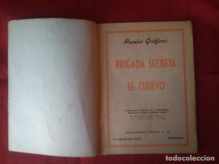 Tebeos: BRIGADA SECRETA - EL CUERVO - Nº33 - ED. TORAY - 1963 - 48 PAG. - Foto 2 - 202932297