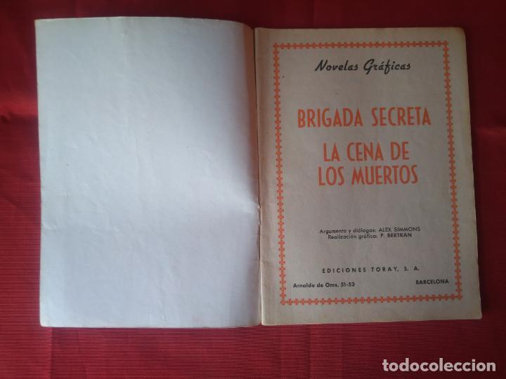 Tebeos: BRIGADA SECRETA - LA CENA DE LOS MUERTOS - Nº22 - ED. TORAY - 1963 - 48 PAG. - Foto 2 - 202932346