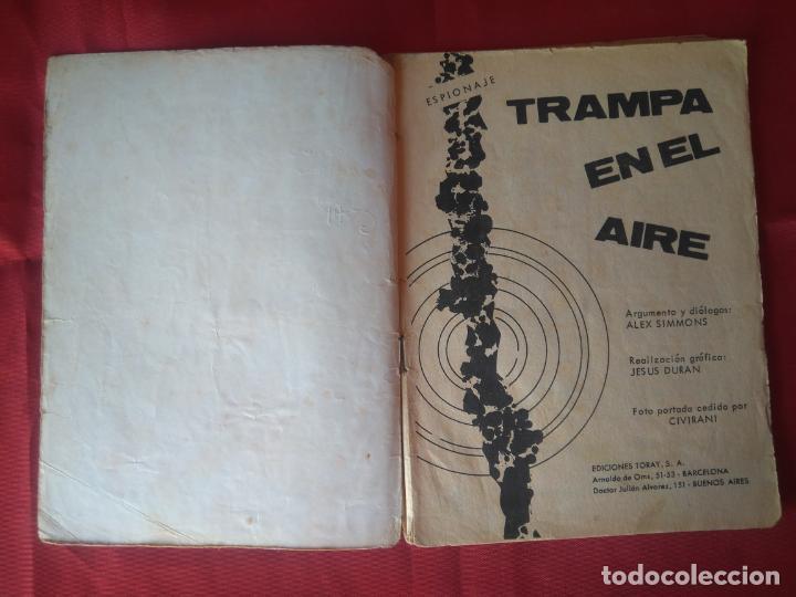 Tebeos: ESPIONAJE Nº 29 - TRAMPA EN EL AIRE - ED. TORAY - AÑOS 60 - 48 PAG. - Foto 2 - 202933503