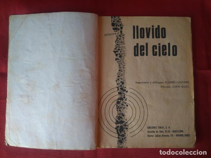 Tebeos: ESPIONAJE Nº 42 - LLOVIDO DEL CIELO - ED. TORAY - 1966 - 48 PAG. - Foto 2 - 202934805