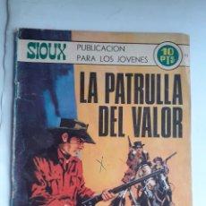 Tebeos: SIOUX - Nº 155- LA PATRULLA DEL VALOR - 1970- GRAN J.Mª. BELLALTA- REGULAR- MUY DIFÍCIL- LEAN- 3347. Lote 203449478