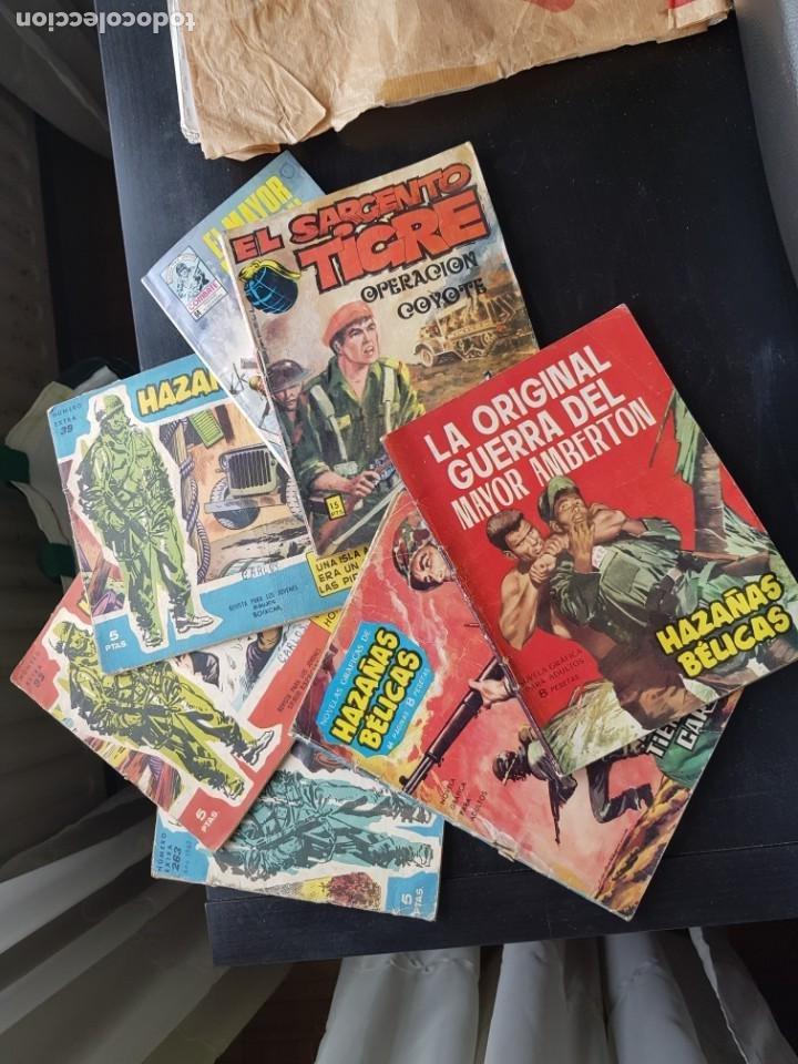 LOTE 7 TEBEOS / CÓMIC HAZAÑAS BÉLICAS BOIXCAR EL SARGENTO TIGRE COMBATE TORAY VILMAR (Tebeos y Comics - Toray - Hazañas Bélicas)